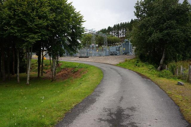 Part of Loch Rannoch Power Station