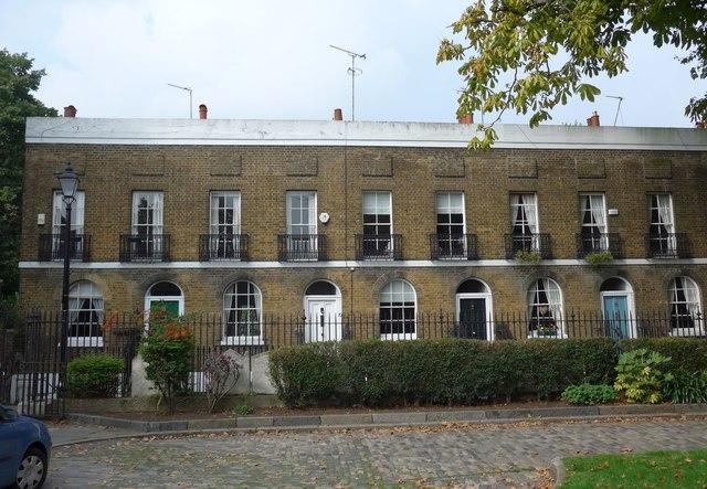 Houses opposite St Alfege's