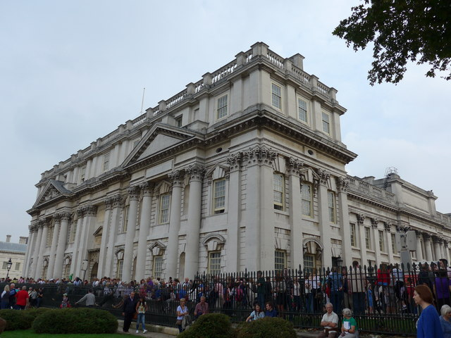 Crowds outside the Old Naval College on Tall Ships Saturday