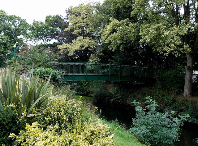The John Southerington Bridge in Wilton Park, Melton Mowbray