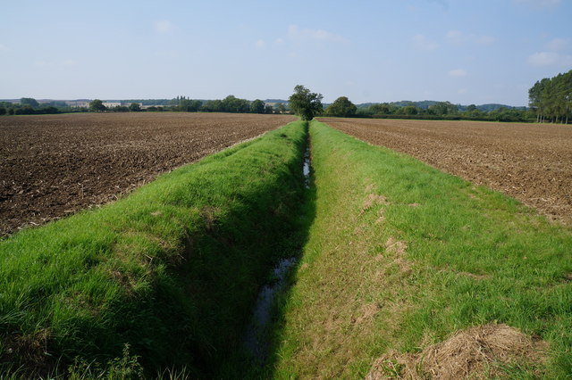 Drain to the south of the Thoroughfare (road)