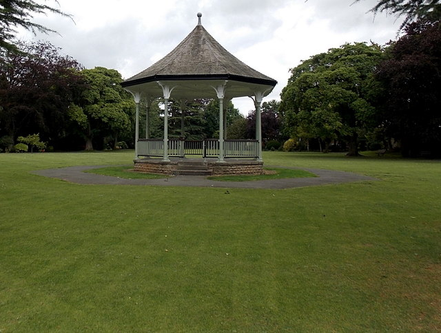 Edwardian bandstand in New Park, Melton Mowbray