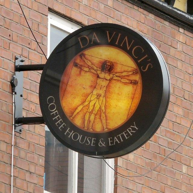 Sign of Da Vinci's Coffee House & Eatery