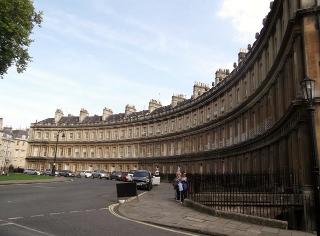 The Circus from the junction with Gay Street, Bath