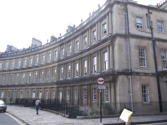 The Circus at the junction with Brock Street, Bath