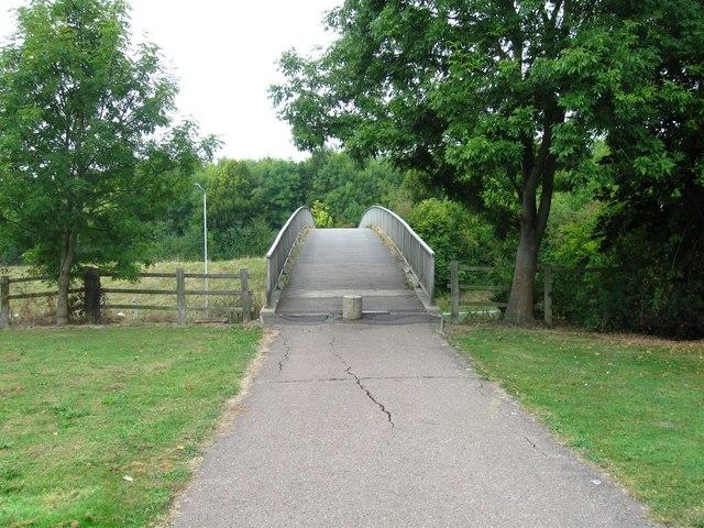 Footbridge over Bretton Way