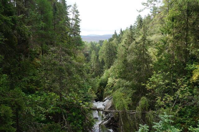 View from the upper bridge, Falls of Bruar