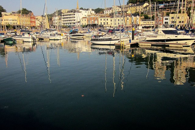 Reflections, Torquay old harbour