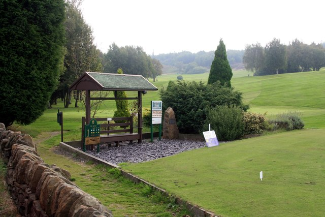 The 1st tee on Stocksbridge golf course