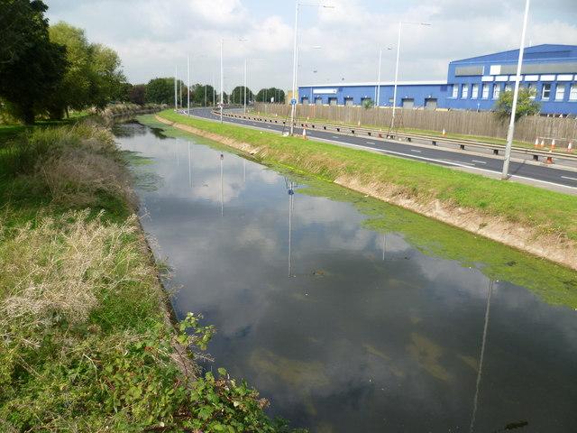 Duke of Northumberland's River alongside the Southern Perimeter Road