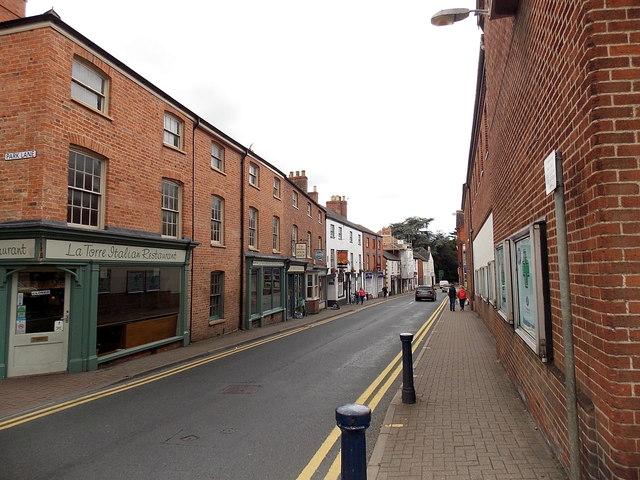 West along Leicester Street, Melton Mowbray