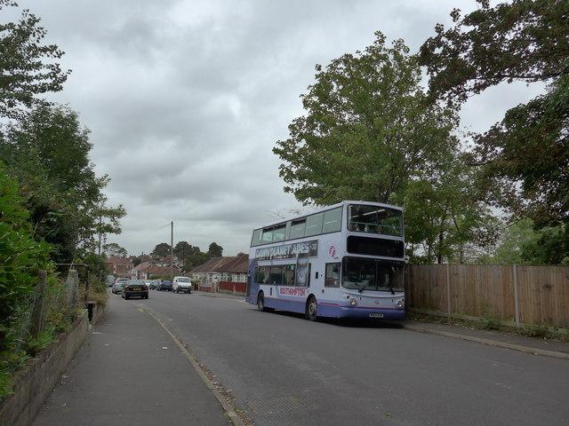 Bus in Wakefield Road