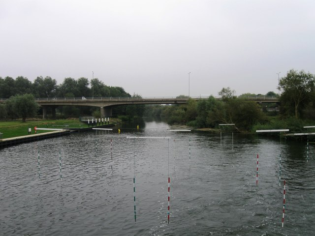 River at Orton with gates