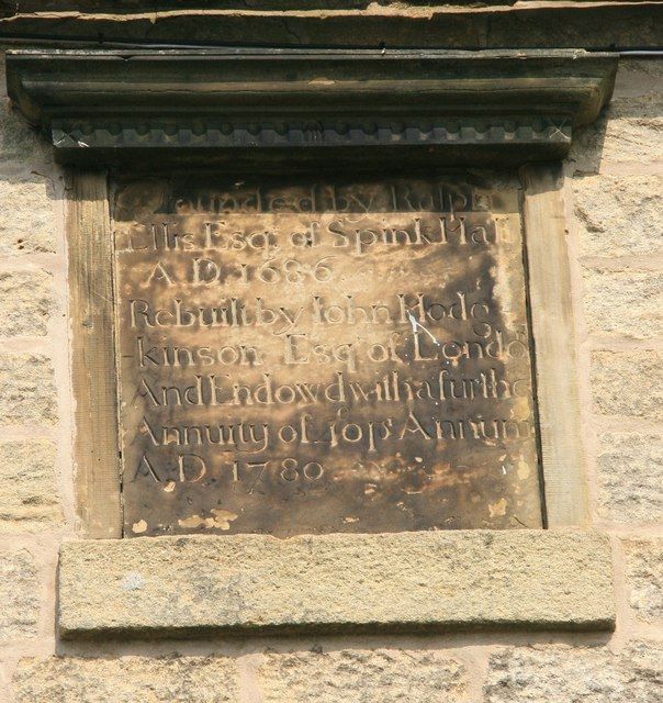 Date stone on former Bolsterstone Free School