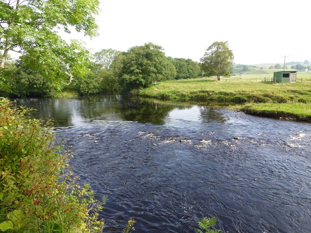 Confluence of  Tarset Burn with the River North Tyne