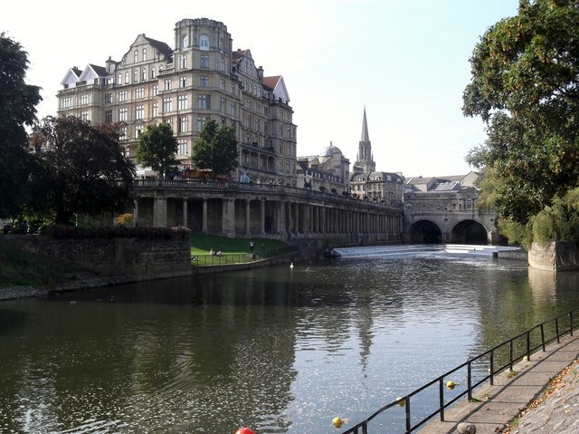 Along the bank of the River Avon, Bath