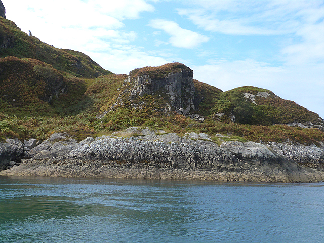 Rocky pinnacle on the slopes of Maol Eilean