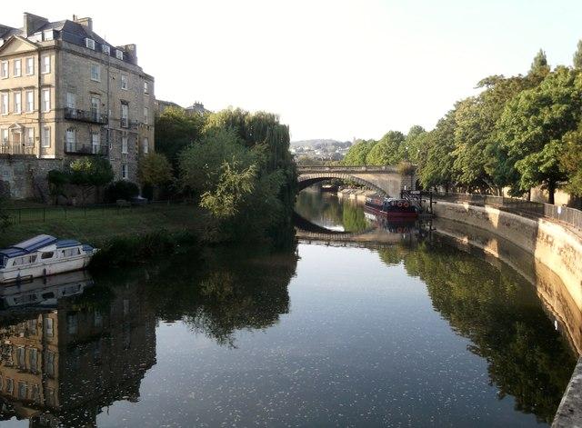 Bath Rail Bridge and the River Avon