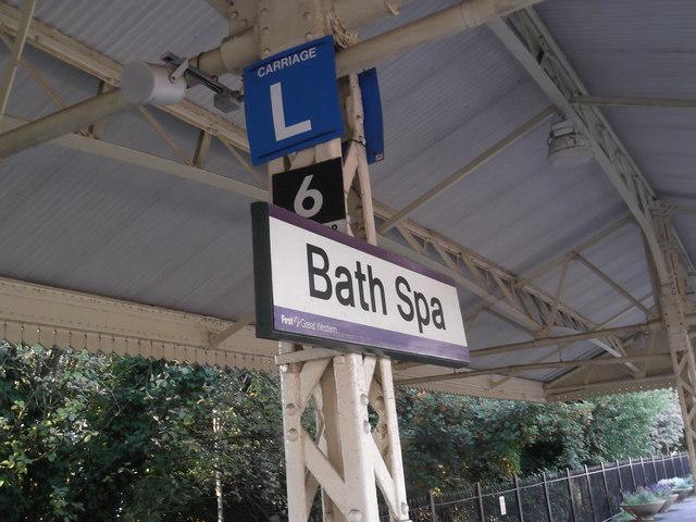Sign, Bath Spa Railway Station