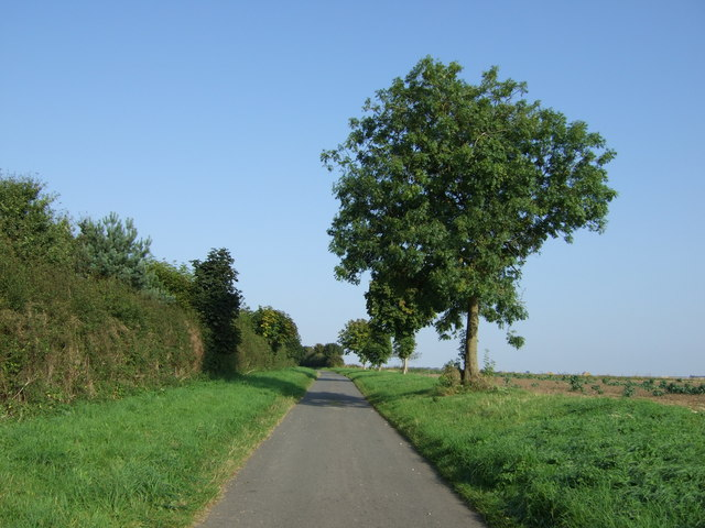 Back Lane heading north west
