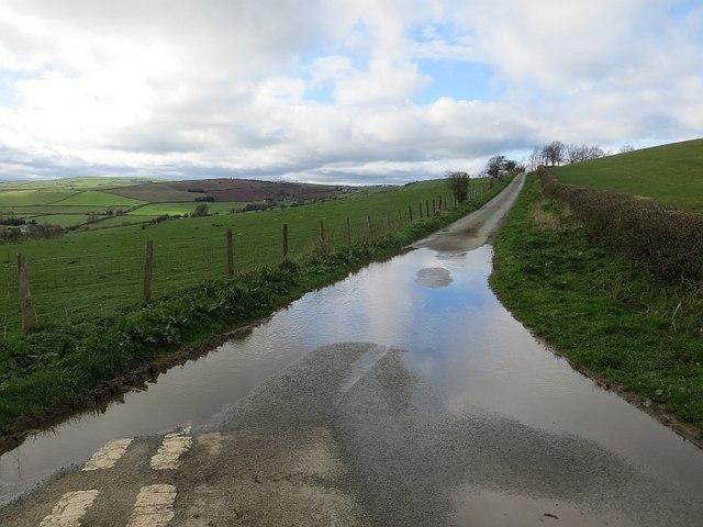 Hill road near Clun