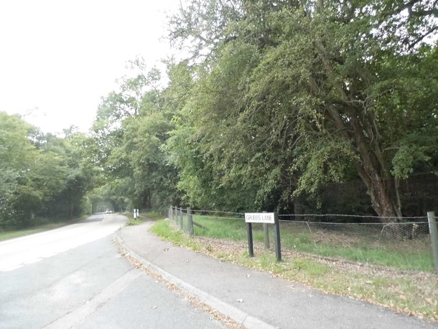 Grubbs Lane at the junction of Kentish Lane