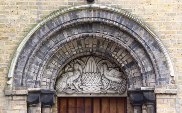 St James the Less, Bethnal Green - Tympanum