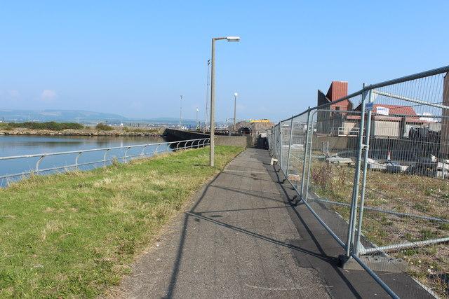 Footpath at Stranraer Harbour