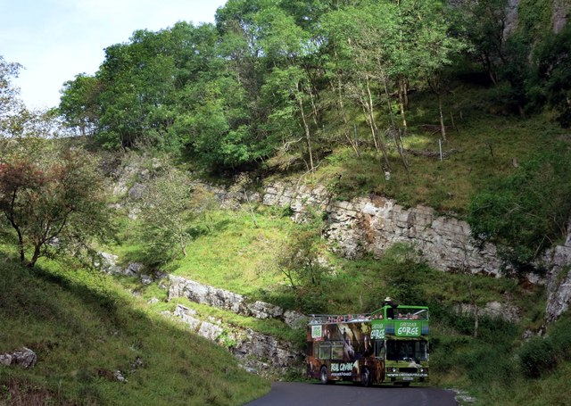 Tour Bus in Cheddar Gorge