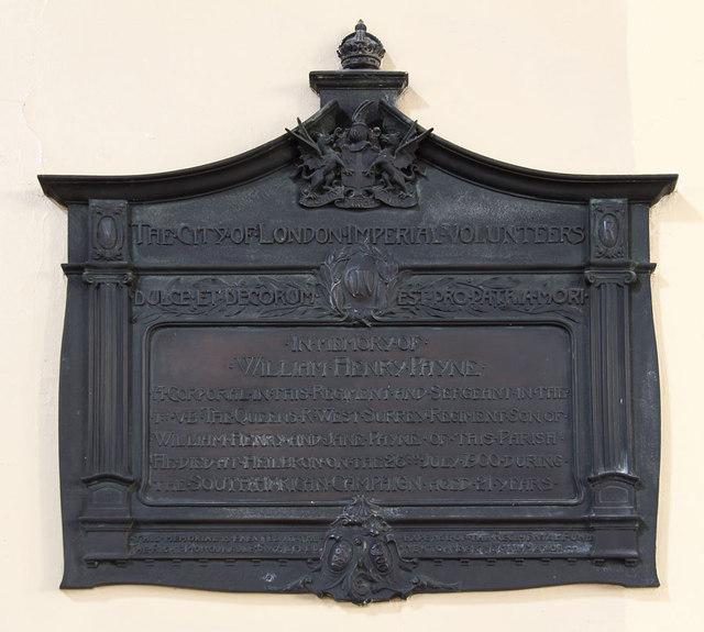 St Mark, Albert Road, South Norwood - War Memorial
