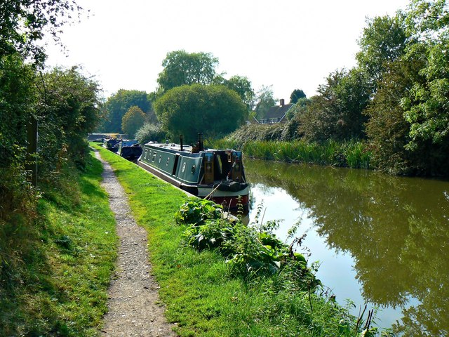 Canal boats and the Kennet and Avon Canal, Wootton Rivers, Wiltshire