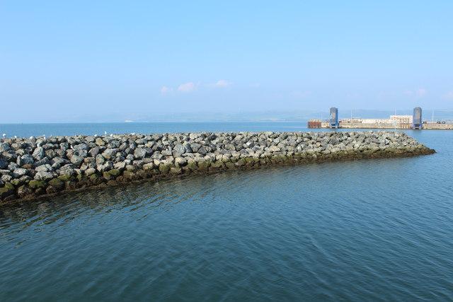 Breakwater at West Pier, Stranraer