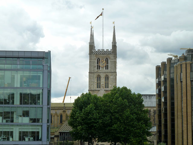 A glimpse of Southwark Cathedral