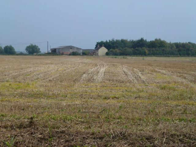 Stubble field and Sandygate Farm, Quadring