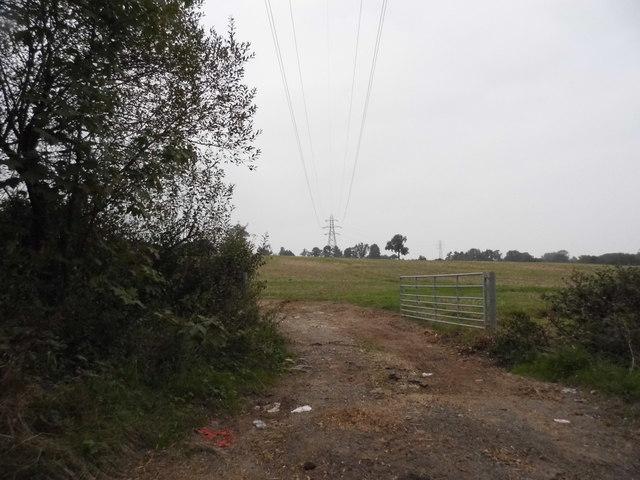 Field entrance on Wildhill Road