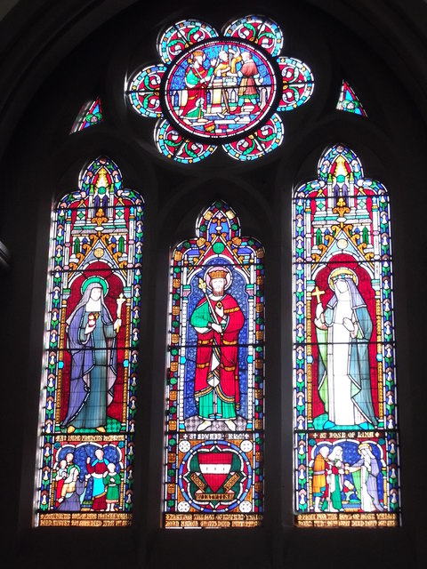 Stained glass, St Wilfrid's RC Church, Duncombe Place, York