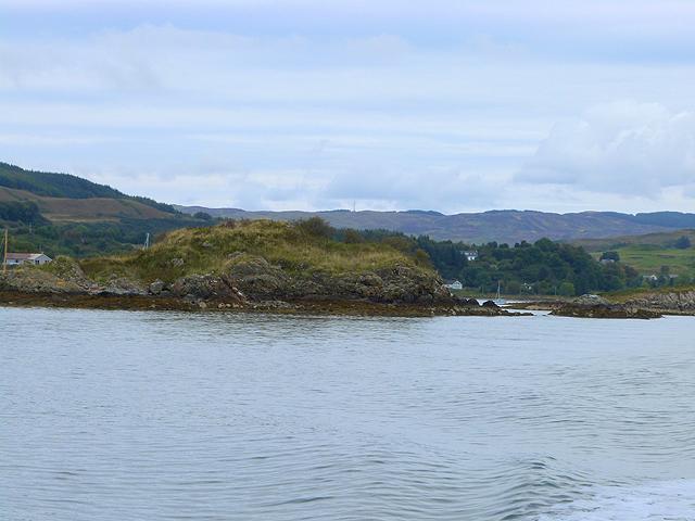 Northern end of Eileann Dubh