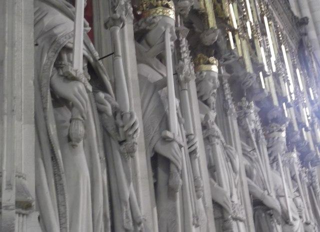 Screen detail, York Minster