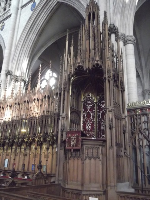 End of the choir, York Minster