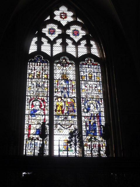 Window of stained glass, York Minster