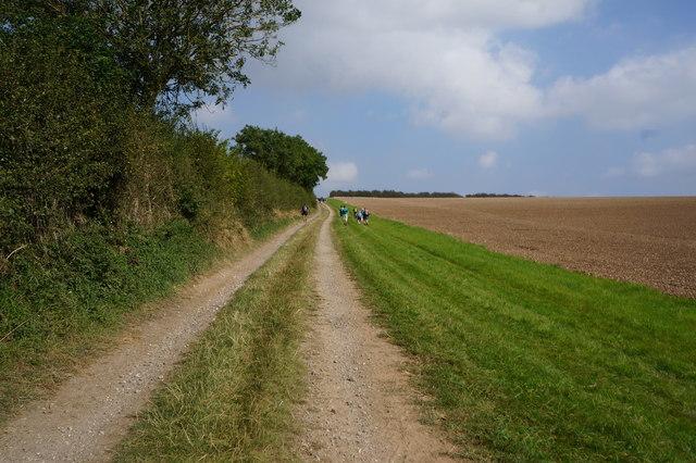 Bridleway towards Stock Furlong