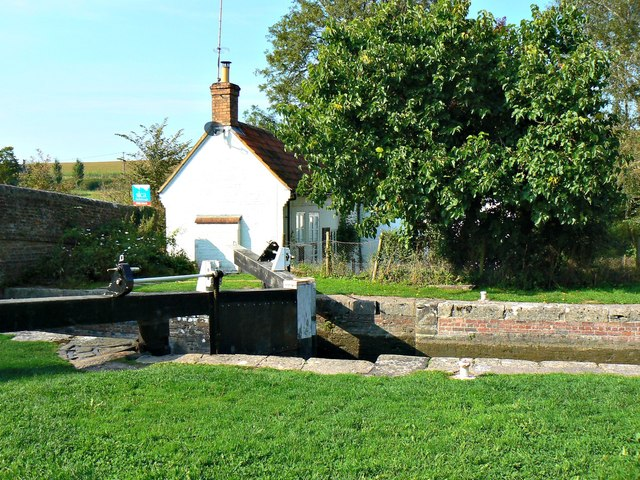 Cadley Lock and Lock Cottage, Kennet and Avon Canal, Brimslade, Wiltshire