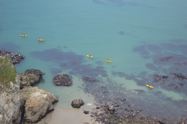Kayaks on the coast
