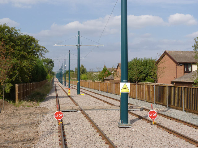 Looking north from Compton Acres tram stop