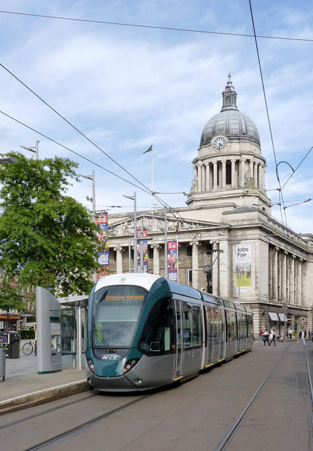 New tram at the Council House