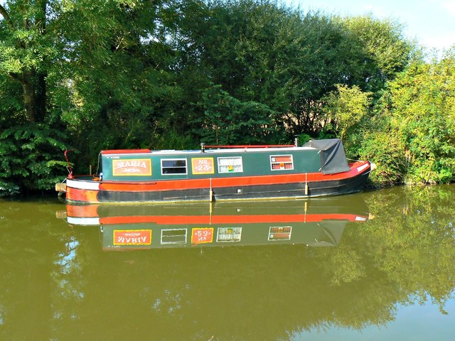 Narrowboat 'Maria', Kennet and Avon Canal, Brimslade, Wiltshire
