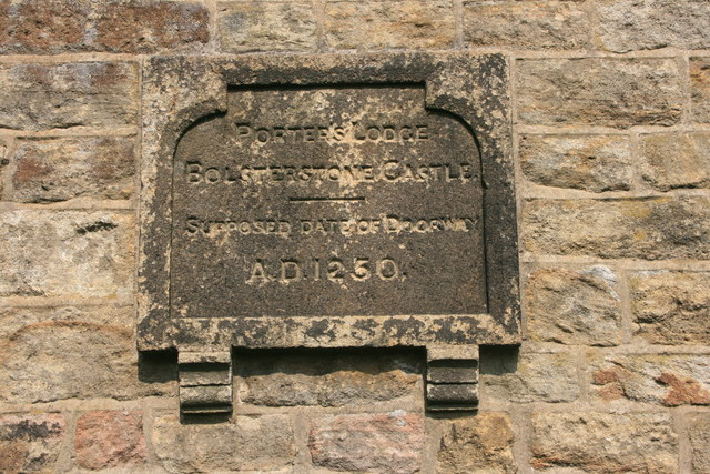 Date stone on the Porter's Lodge