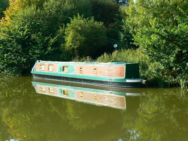 Narrowboat 'Stoney Broke', Kennet and Avon Canal, Brimslade, Wiltshire