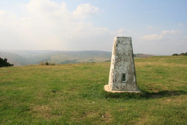 Trig point on Salter Hills