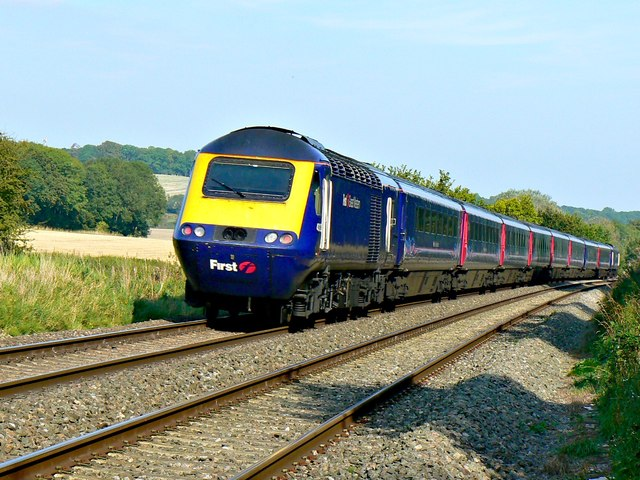 'Up' First Great Western High Speed Train, north of Ram Alley, Wiltshire
